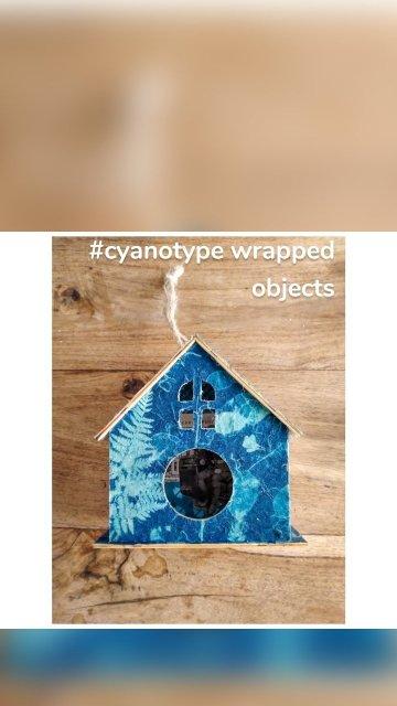 #cyanotype wrapped objects